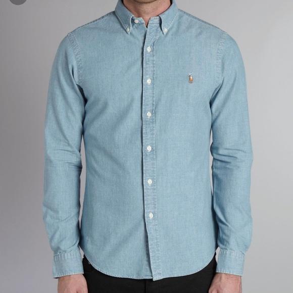 4e65378f Ralph Lauren chambray shirt size large. M_5b055eebb7f72b95fec1e8db